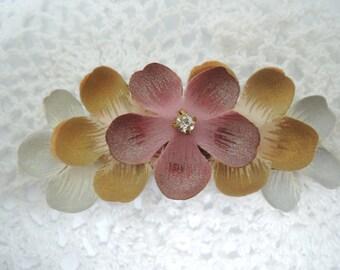 YUETAccessory - Charming Earth Tone Flower Petals Hair Clip