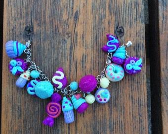 Polymer clay candy bracelet.