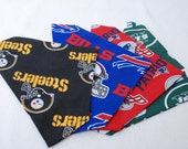 NFL New England Patriots Pittsburg Steelers Buffalo Bills New YorkJets Carolina Panthers Dog Scarfs in 3 Sizes and Free USA shipping