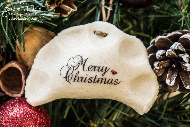Sand dollar ornament - 1pc Pierogi Ornament Christmas Pierogies Dumpling Salt Dough Thank You Gift