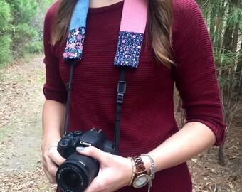 Vintage Floral Camera Strap Cover