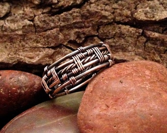 TUTORIAL Twisted Wire Mens Ring, Free Bonus Wire Twisting TutorialWire weave tutorial, Mens wire weave ring
