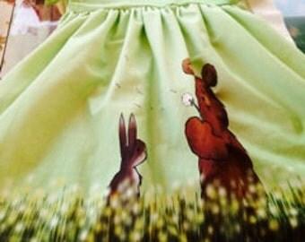 Beautiful Jersey dress dandelion bear