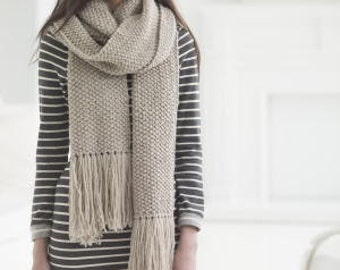 Street Chic Seed Stitch Scarf-Beginner- Pattern