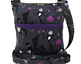 Nightmare Before Christmas Crossbody Bag // Jack Skellington Sling Bag // Crossbody Purse // Shoulder Bag // Hipster