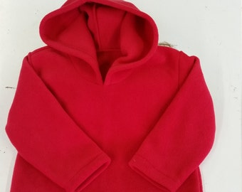 Kids fleece hoodie, personalised