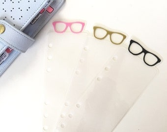 Glasses Bookmark | Page Marker | Planner Bookmark | Traveler's Notebook