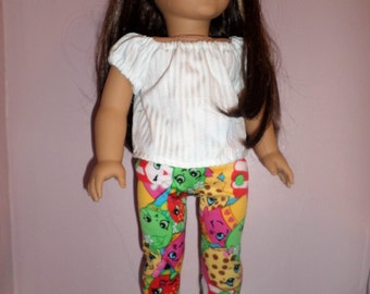 18 in doll leggings Shopkins- fits American Girl Doll