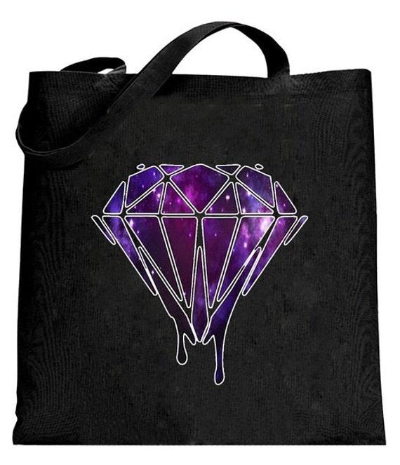 Drippin Diamond: Bleeding Melting Dripping GALAXY Diamond Canvas Tote Bag