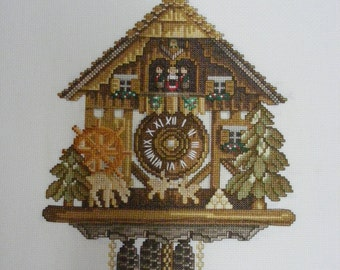 Cross Stitch- #01 Cuckoo Clock
