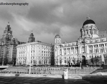 Wall Art - The Three Graces - Liverpool Waterfront