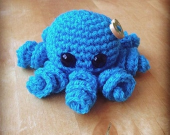 Amigurumi octopus! Free shipping! Made to order