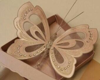 Handmade Luxury Vintage Butterfly Scroll Wedding invitations