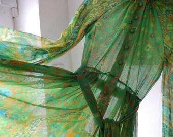 1970s sheer maxi dress