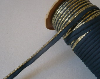Vintage Gold & Black Piping. 1970's. 10mms. x 3 Metres