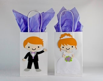Qty 12. Wedding-Wedding Gift Bags-Bridesmaids Gift Bags-Groomsmen Gifts Bags-Bride & Groom Gift Bag-Bridesmaid-Bridal Party Gift Bags.