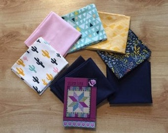 Silver Star Quilt Top Kit - Morning Walk Fabric