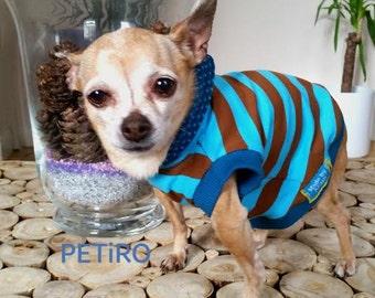 """PETiRO """"TEAL BROWN"""" Dog/ Cat Hoodie. Cute Dog Clothes. Adorable Pet Apparel."""