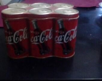 Coke a Cola 6 pack tin