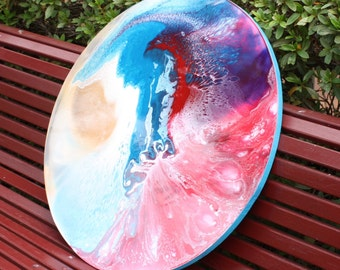 Made to order - Circle Abstract Resin Art
