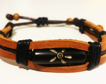 Brown Leather Bracelet Men / Women