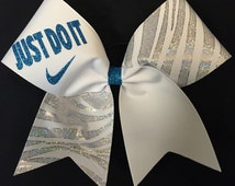 Just Do It Nike Custom Cheer Bow