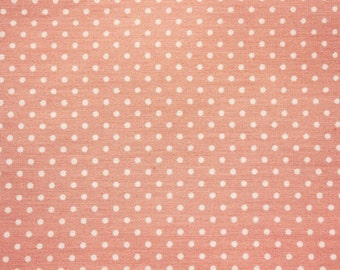 Cotton Polka dot Fabric, Polkadots Fabric, Dusty Pink, Little Dots, Basic Essential, Dressmaking Sewing Quilt Materials, Wide, Half Metre