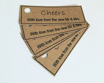 20 Wedding favour tags