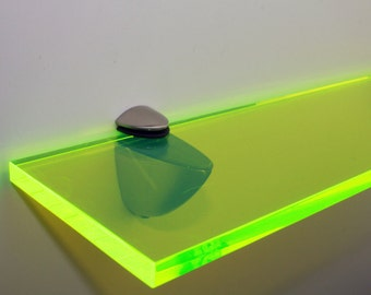 Acrylic Coloured Shelves - Green Neon for Interiors