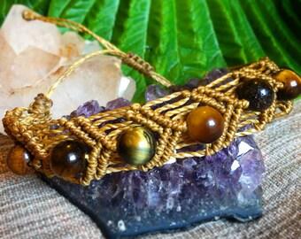 Macramé Bracelet with Tigers Eye