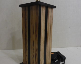 Bogoak and Oak hand crafted lamp