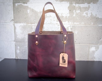 Oxblood Horween Leather Tote Bag