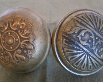 Door Knobs, Brass Door Knobs, Vintage Door Knobs, Set of 2 Door Knobs