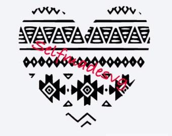 tribal heart svg