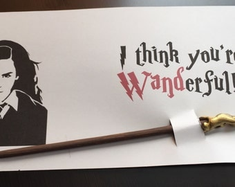 Hermione Granger Wand Valentine ***PRINTABLE ONLY***