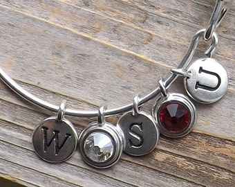 Washington State University bangle charm bracelet / WSU Bangle Bracelet / WSU Cougars Bracelet