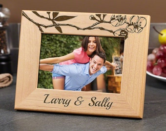 Cherry Blossoms Personalized Picture Frame - Gifts for Couples