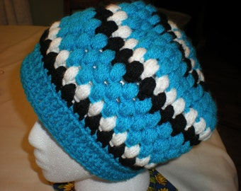 Panther Colored Crocheted Hat