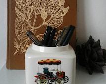 Vintage car~Collectible car memorabilia~Morris~vintage car storage jar~Wolseley~Daimler~Ford~vintage jar~Clifton~vintage~fathers day gift~