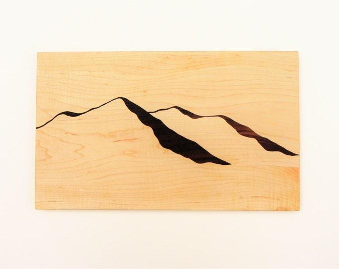 Mountain View Wood, Cutting board, Mountains, Mountain View, Modern Design, Modern Decor, Mountain art, Mountain Ridge, Hiking, TO ORDER