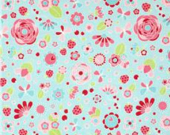 Fabric by the yard - Riley Blake - Flutterberry Main Blue