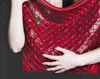 MARINO ORLANDI  leather bag  -100% made in Italy-
