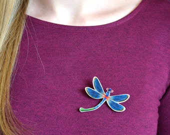 Small Dragonfly brooch Silhouette