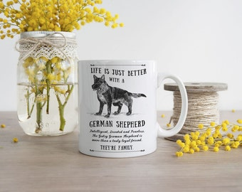 German Shepherd Mug ~ Perfect Gift can be personalised