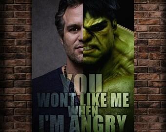 Incredible Hulk birthday Print