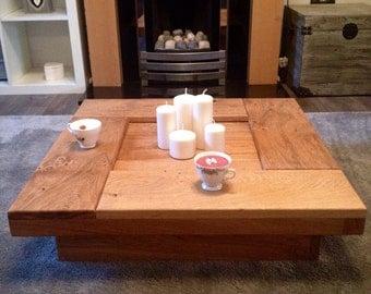 Coffee table, oak coffee table, wood coffee table, coffee table, square coffee table, low coffee table,