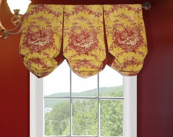 Waverly La Petite Ferme Rooster Country Custom Balloon Valance  Faux Shade