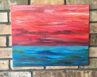 Abstract Landscape Acrylic Painting on Canvas