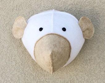 Felt Bear Head