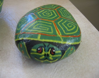 Stone Turtle Painted Rock